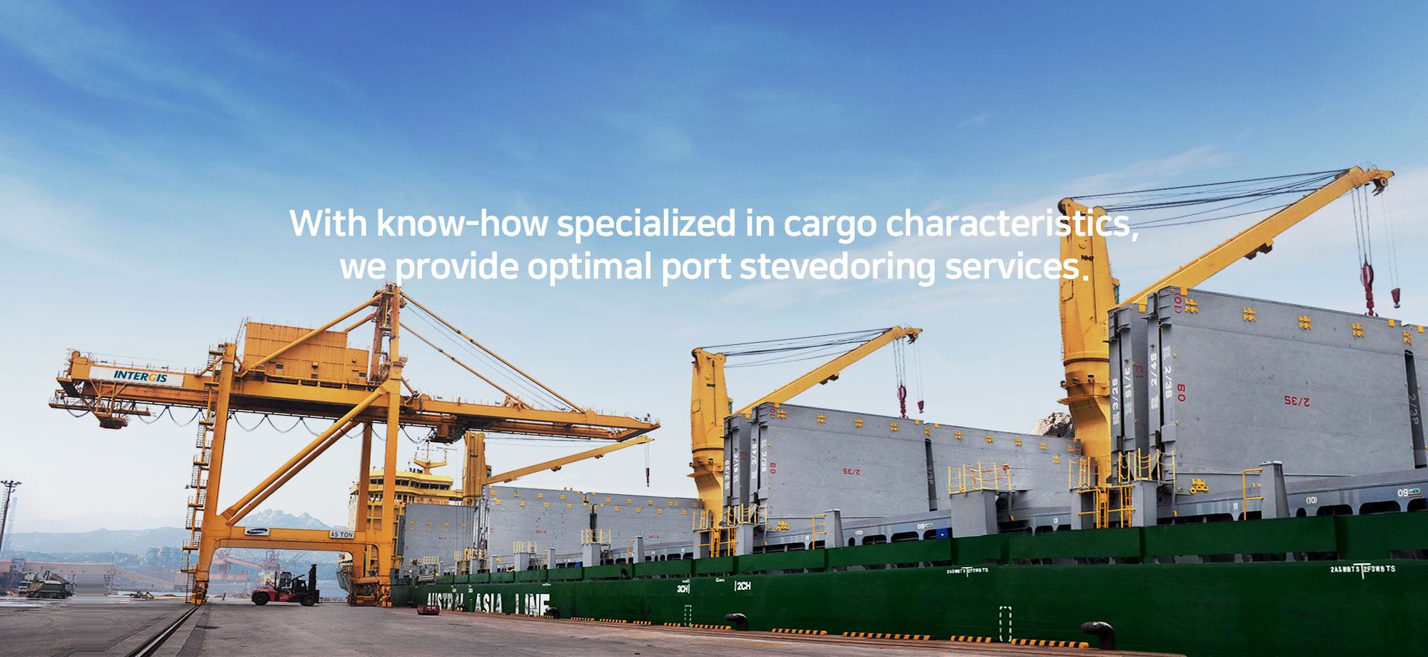 With know-how specialized in freight characteristi